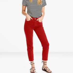 Levi's Wedgie Icon Jeans Deep Dahlia Red w29